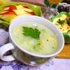 セロリとコーンのとろとろ長芋すりながしスープ