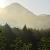 伝説の残る猪群山(いのむれさん)で朝景色を撮った