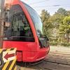 松山市内を走る路面電車