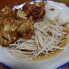 幸運な病のレシピ( 760 )昼:かき揚げ、蕎麦、大根おろし
