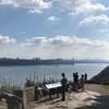 ニュージャージーへドライブ:  エングルウッド・クリフスにあるロッカフェラー・ルックアウト(Rockefeller lookout)