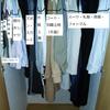新居での荷出し・服:服が思ったより少ない。衣装ケースの中を仕切らない方が多く入る
