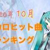 【ボカロ曲】2020年10月投稿ヒット曲ランキング【一覧】