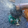 キャンプ用薪ストーブのススを焼き切りました