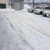 鷹巣2号排雪・雪が緩んでがちゃがちゃ・クロス