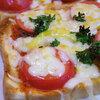 本日のおうちランチはニセコ産塩トマトのピザトースト♪