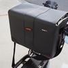 容量、防水性良し!!カメラの収納に IBERA 自転車フロントバッグ