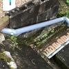 ガーデンシンク 2日目 排水口の設置とコンクリ打ち