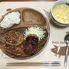 豆腐ハンバーグ2種類とコーンスープ