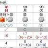 21日冷たい雨