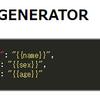JSONジェネレータを作る(Vue.jsとかJavaScriptとか)