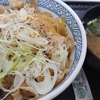 「吉野家、ねぎ塩豚丼」と、ダイエット~163日目~