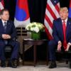 韓国の反応, 米韓首脳会談前の記者質問回答回数、トランプ17回、文在寅0回…欠礼議論