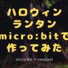 ハロウィンランタンをmicro:bit×neopixelで!超簡単なのに面白いですよ!