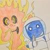 なってた友達と。 『ゲゲゲの鬼太郎』第二十一話「炎上!たくろう火の孤独」