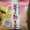 山芳製菓 ポテトチップス 岩下の新生姜味  食べてみました