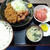 西川口の「あおき食堂」でチキンカツと唐揚げ定食を食べました★