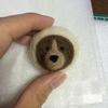 羊毛フェルト クマ ブローチ作り方①