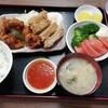 西川口の「あおき食堂」で鶏竜田とから揚げチリソース定食を食べました★