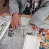 3年生:図工 ひもひもねん土でひもひもランド