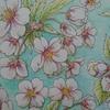 再完成】『三菱No.888色鉛筆で塗った桜ページ』の背景を塗ってみました☆花日和花だよりより
