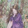 エポルの塗り絵ブックより「森の音」をプリズマカラーで塗ってみた