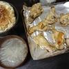 手羽元焼き、白菜漬け、スープ