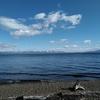 冷たいですが、良いお天気の湖西地方です。