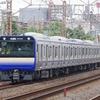 7月8日撮影 東海道線 平塚~大磯間 横須賀線新型車両E235系1000番台 試運転を撮る②