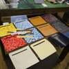 今日はL字の長財布の生産。10月16日の1日1作。
