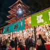 浅草寺 「歳の市」夜の幻想的な「羽子板市」を見に行く。12月17日〜19日。