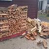 薪ストーブ始生代79 井桁積みにした薪が崩壊した