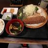 【食事】 牛かつ もと村@渋谷店 牛かつ麦飯セット