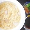 ウチで 素麺1束半(パスタクッカー500Wで6分30)