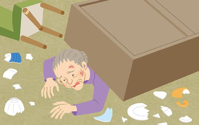 地震でガレキや家具の下敷きに…。あなたが取るべき行動は? -防災行動ガイド