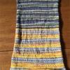 opalの毛糸で編む腹巻き帽子、完成です
