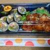 🚩外食日記(759)    宮崎ランチ   「LEES KITCHEN(リーズキッチン)」②より、【プルコギキンパ+韓国からあげ弁当】‼️