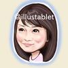 iPadで描いた 矢田亜希子さんの似顔絵と似顔絵が出来上がるまで。