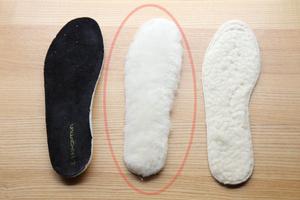 天然羊毛の極厚ウールインソール 冬のモンゴル防寒装備 その3