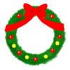 【イラストフリー素材】SNS アイコン用 クリスマスフレーム