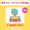 I want to ~. / ~がしたいです 【パターン英会話#8】