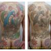 背中からお尻にかけた広範囲タトゥーでも1度の来院で全部照射します!