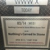 【Nothing's Carved In Stone】Mirror Ocean Tour@渋谷WWW X