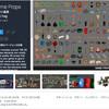 【無料化アセット】交通標識、ゴミ箱、消火栓、通行止め、街灯など街の環境素材と、古い時代の井戸や荷車、樽、墓地など185種類の小道具系3Dモデル「3D Game Props」