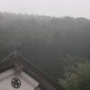 大雨警報発令中の北川村。
