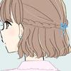 【フリーアイコン】No10/雨のしずくバレッタ/女の子