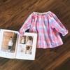 【着画あり】ラグラン袖のスモックブラウスを作りました~パターンレーベルの子供服ソーイング「ラグランブラウス」