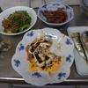 幸運な病のレシピ( 1414 )夜 :牛肉の青椒肉絲風、イカ焼き、イカ煮付け、イワシ、汁(仕立直し)