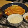 朝ごはん かつ煮と納豆