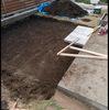 2017庭に平板を敷く-2 木曜日 はれ